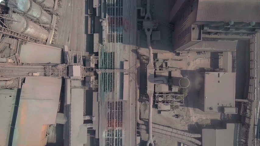rafineri : Aerial view. Old factory. Stok Video