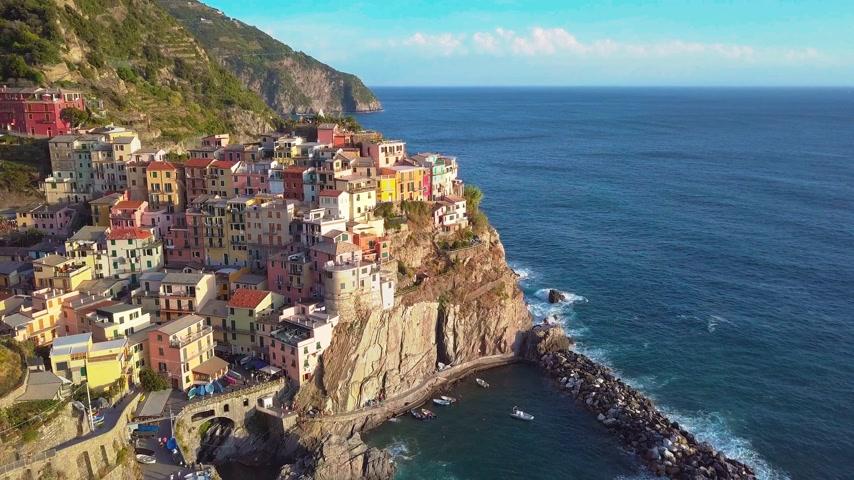 Лигурия : Aerial view of Cinque terre, five lands