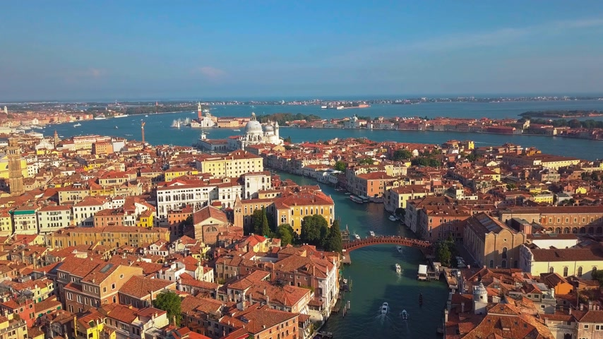 toscana : Drone video - Aerial view of Venice Italy Stock Footage