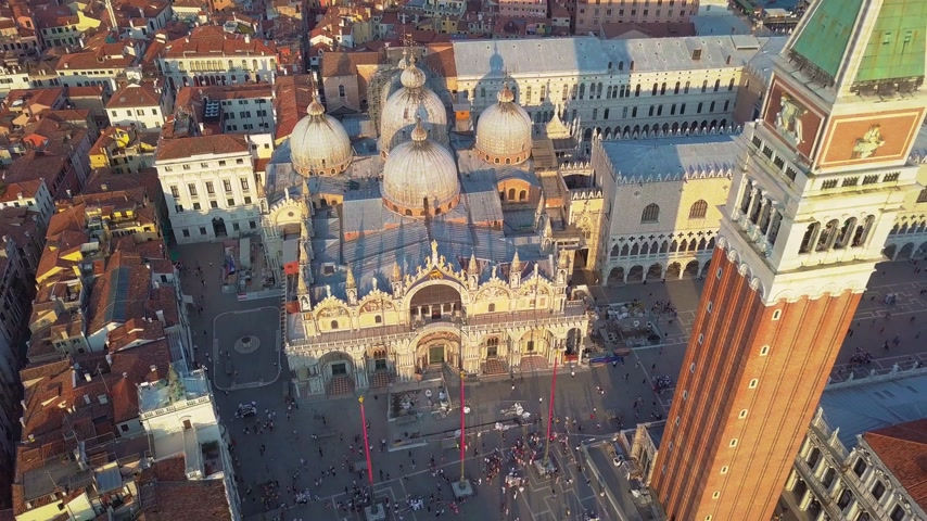 piazza : Aerial view of Venice Italy