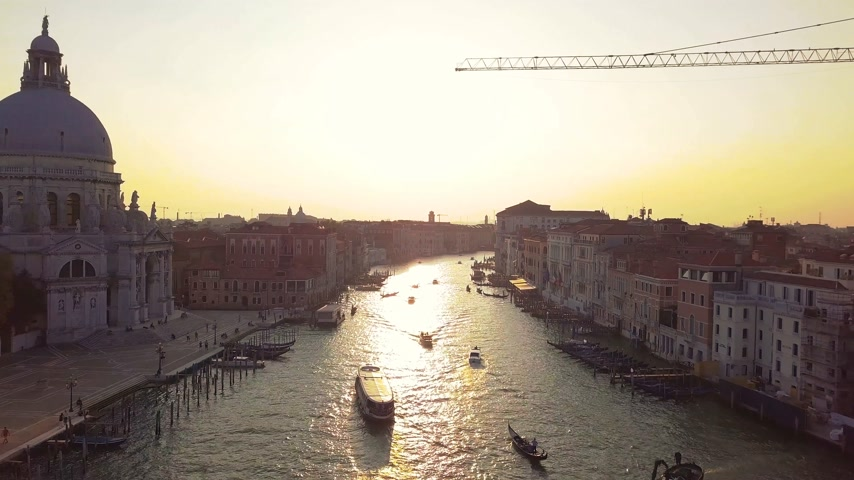 palazzo : Venice Cityscape Aerial View Grand Canal San Marco Bell Tower Mark Square Italy