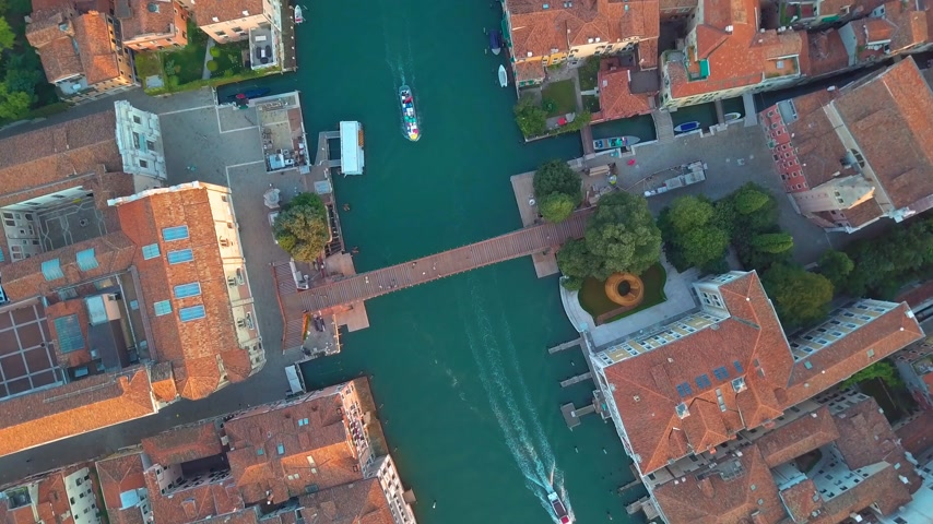 veneza : Aerial view of Venice and its Grand canal