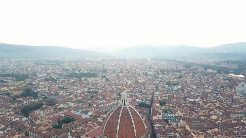 piazza del duomo : Aerial view on the city and Cathedral of Santa Maria del Fiore