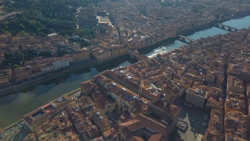 olasz kultúra : Aerial panoramic view of Florence at sunset, Italy