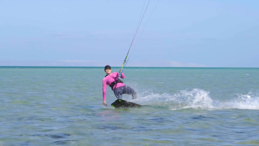 trik : Girl Kite Surfing In Slow Motion Dostupné videozáznamy