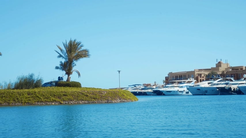 egyiptomi : footage of modern city El Gouna in Egypt