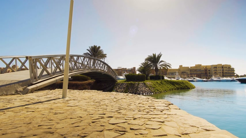egipt : footage of modern city El Gouna in Egypt