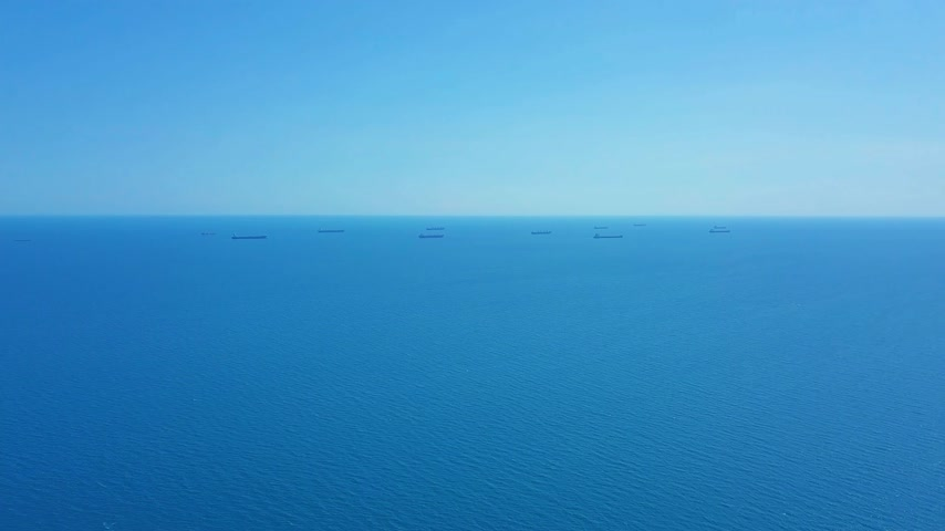 sending : Aerial view Cargo Ship and Tanker in the sea.