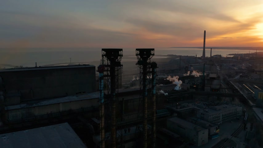 petrolkémiai : Industrial zone at sunset