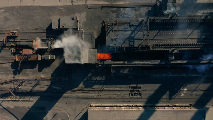 kola : Aerial view. Coke plant. Coke batteries. Old factory. Industrial view