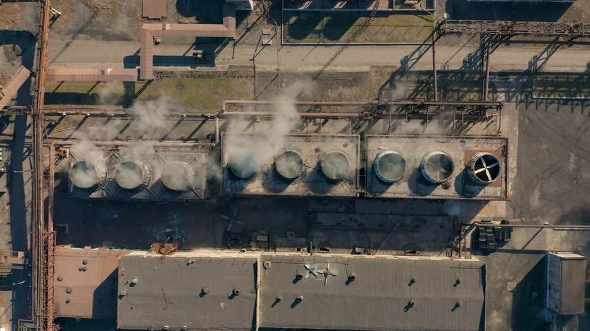 coque : Aerial view. Coke plant. Coke batteries. Old factory. Industrial view