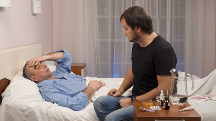 umutlu : Son is visiting old father, ill in hospital
