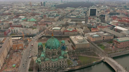 pitka : Aerial view. the Berlin Cathedral 4K.