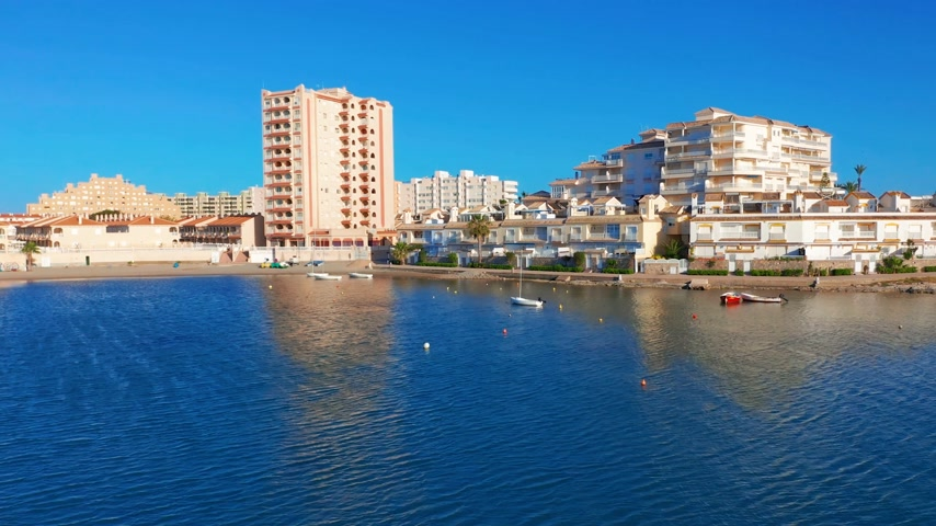 плевать : Aerial view. Panoramic view La Manga del Mar Menor, Cartagena, Murcia, Spain.
