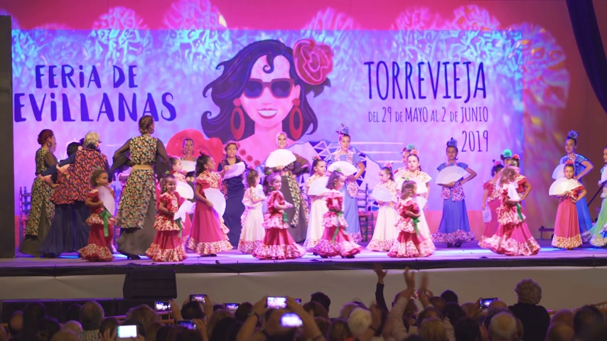 Torrevieja, Spain - May 29, 2019: Sevillian festival.