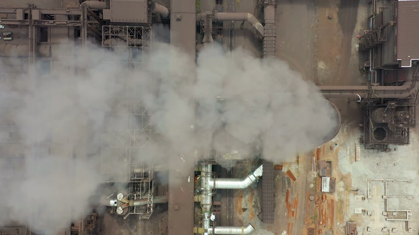 dioxid : Industry pipes pollute the atmosphere with smoke, ecology pollution, smoke stacks.