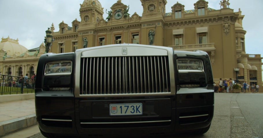 kasyno : Monte-Carlo, Monaco - October 15, 2019: Luxury life, elements of luxury life, luxury life cars.
