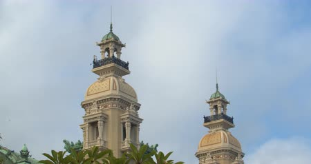 tempo : Detail of the Monte Carlo Casino on background sky.