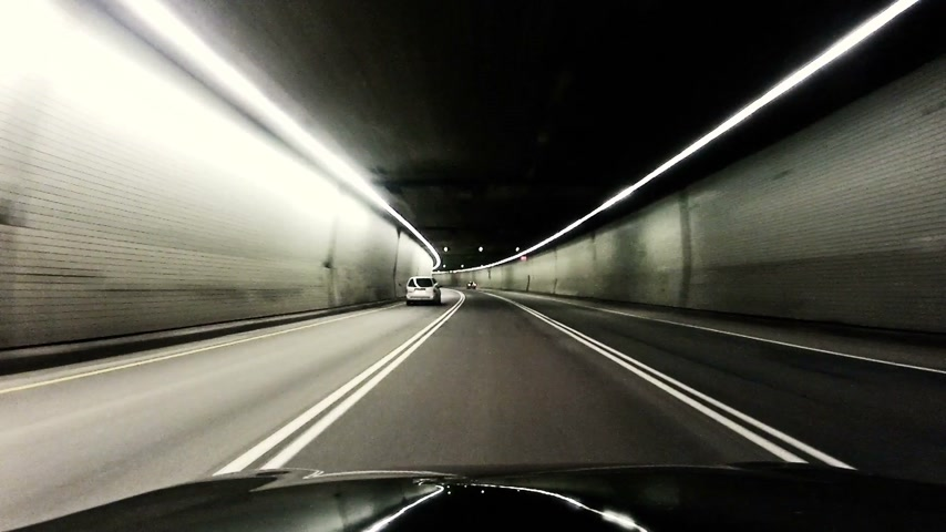 video effects : Driving in tunnel Stock Footage