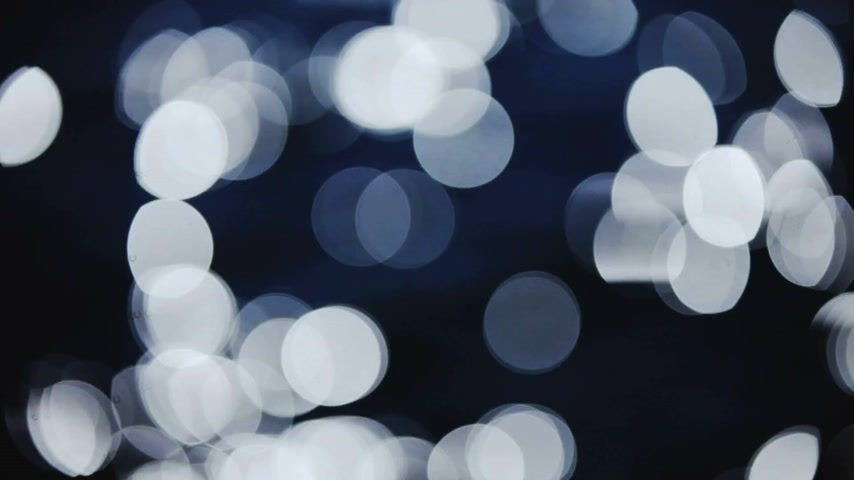 боке : Blue Bokeh Flickers Moving and Flashing Video Effect