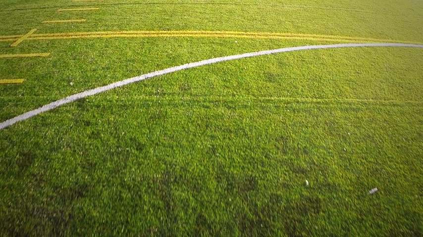 yirmi : Aerial footage of a Outdoor Football Field Slow motion