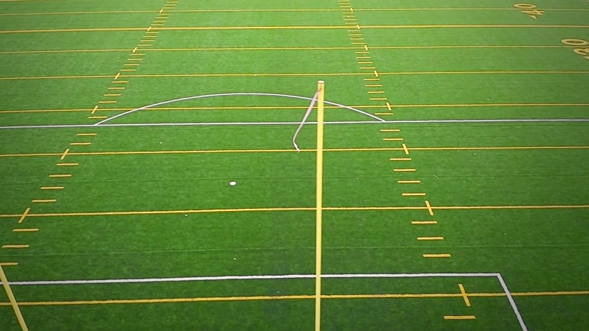 post it : Detail van Outdoor American Football Field Doelpaal Stockvideo