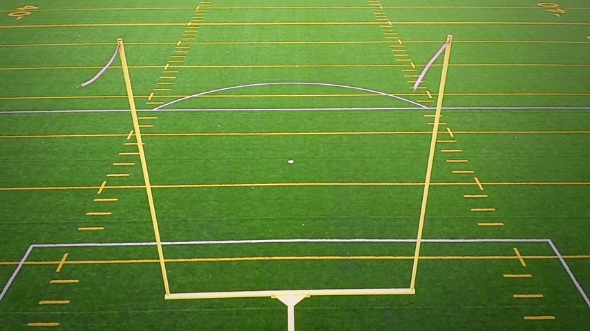 futbol : Detail of Outdoor American Football Field Goal Post Stok Video