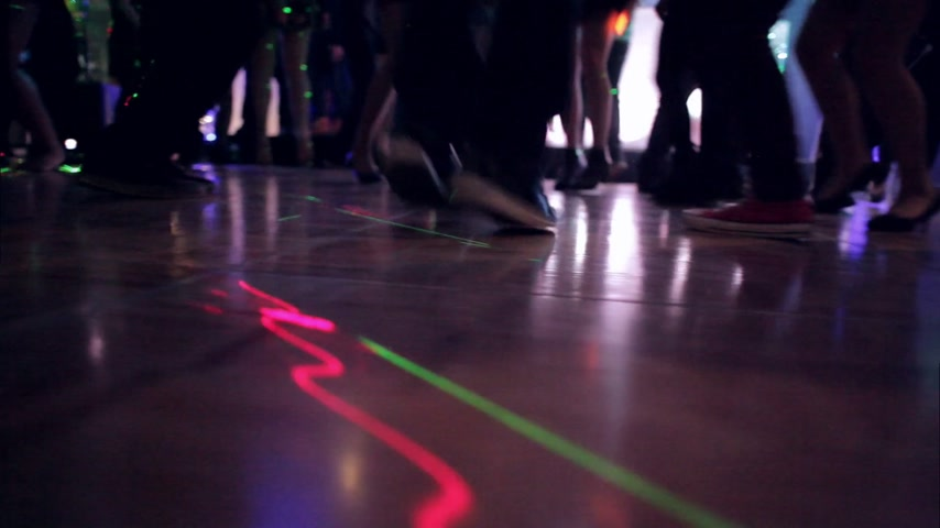 jump : Low Angle of Young People Jumping and Dancing on the Dance Floor