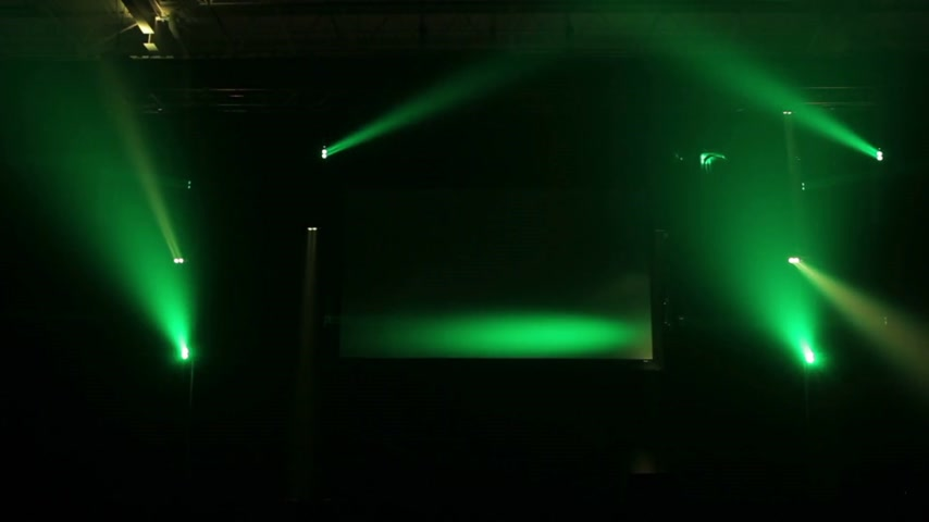 lézer : Static Footage of a Light Show on a Empty Stage Stock mozgókép