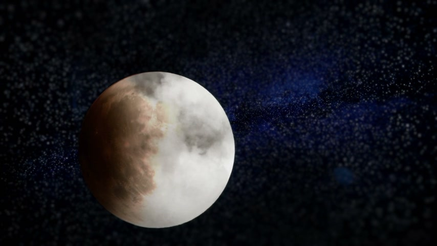 sangue : Stelle Unreal aggiunto Luna Eclipse con Milkyway e nubi Video Timelapse