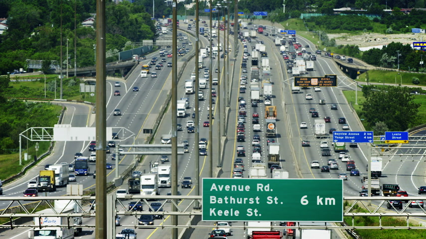 busiest : June 18th, 2015 Toronto, Canada. Kings Highway 401 also known by its official name as the MacdonaldCartier Freeway and is the busiest highway in the world.