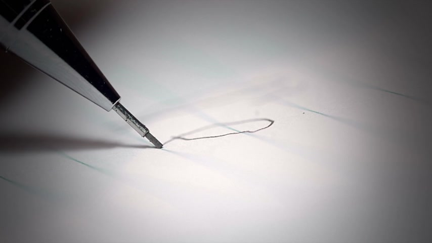 ołówek : Panic Attack Illustrated by Breaking the propelling pencil lead with a Shaky Hand