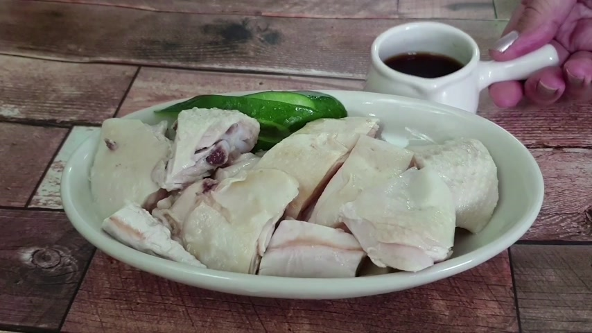 meat rolls : Boiled chicken with soy sauce
