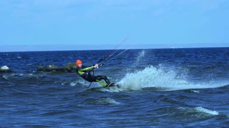 kitesurfer : SLOW MOTION: Stock Footage