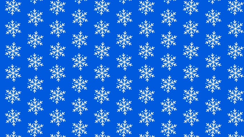 sniezynka : Video looped geometric snowflakes pattern on blue background Wideo