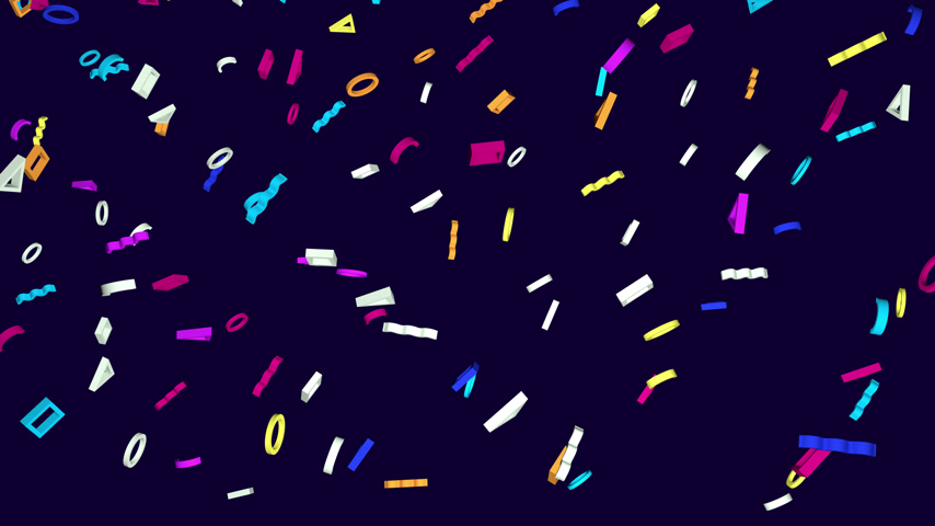 estalo : Geometric abstract looped out glowing 3d shapes on a dark background. Alpha channel is included. Vídeos