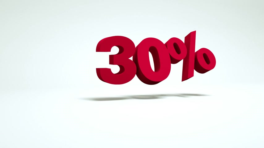 satmak : 3d video 30 percent Stok Video