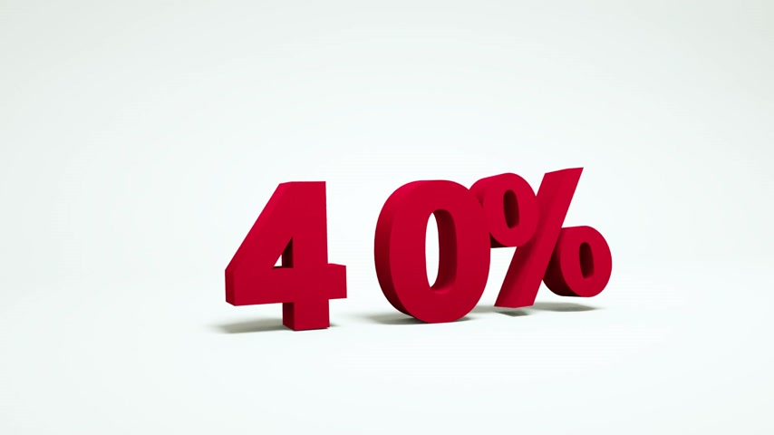 fifty : 40, 50, 60, 70 percent