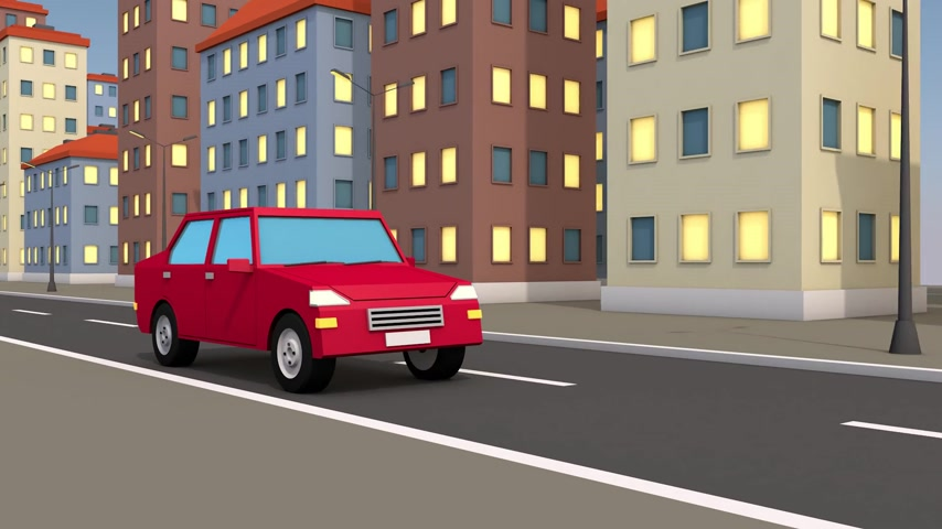 úttest : 3d car rides through the abstract city.