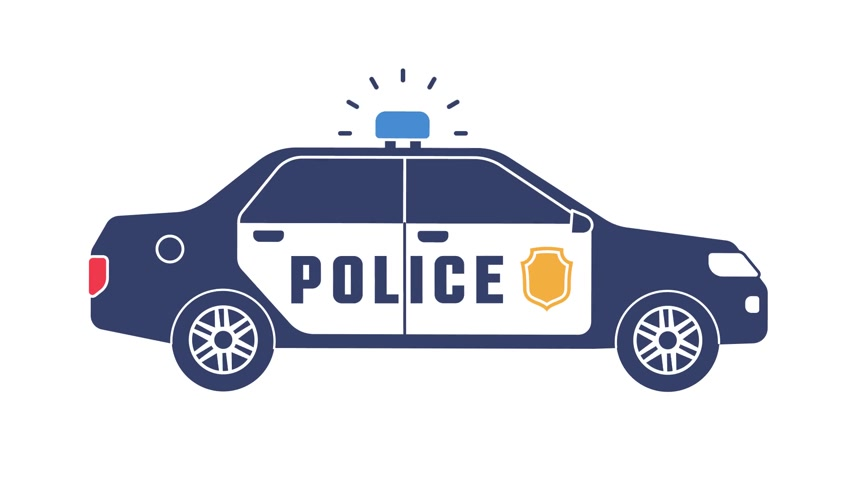 policista : Police car with flashing lights icon