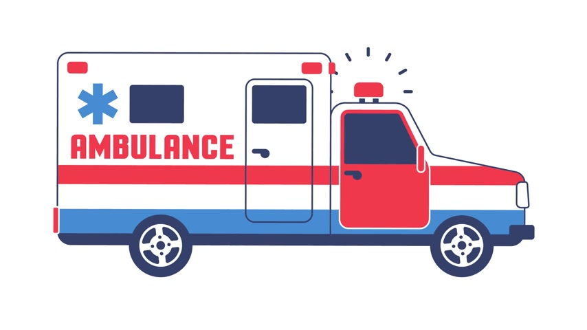 syrena : Ambulance car rides on a call with the siren turned on Wideo