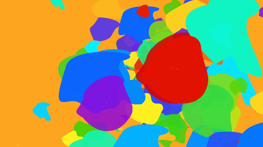 Abstract Psychedelic flow of color shapes Stock Footage