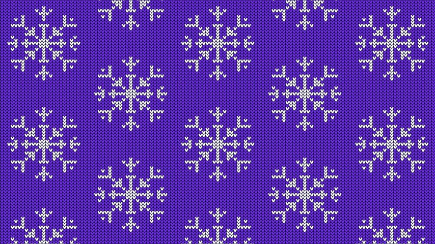 Knitted snowflake pattern for scandinavian sweater Stock Footage