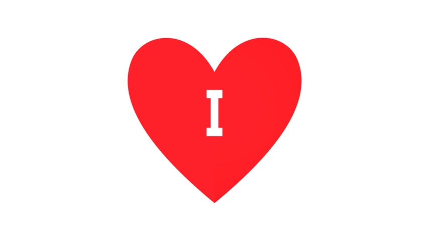 Valentine day heart card - i miss you. Stock Footage