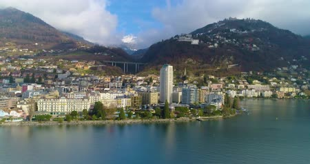 montreux : Aerial view of montreux