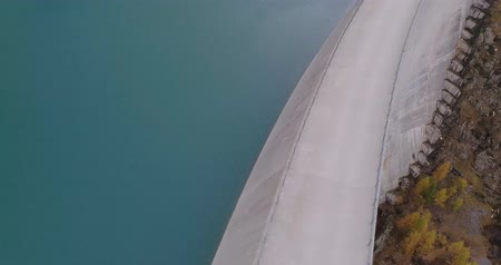 eau : aerial view of a dam Stock Footage