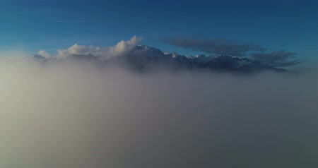 suisse : going over the cloud Stock Footage