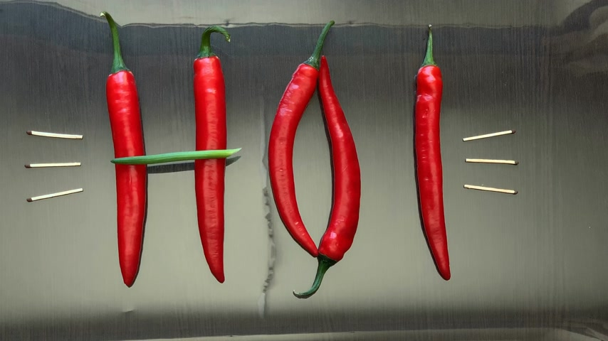 çili : red hot pepper on the mirror surface