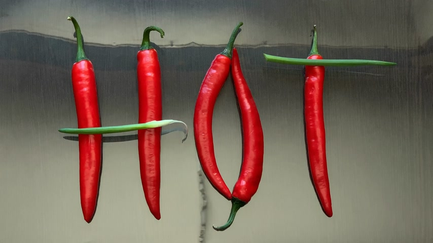 pimenta : red hot pepper on the mirror surface