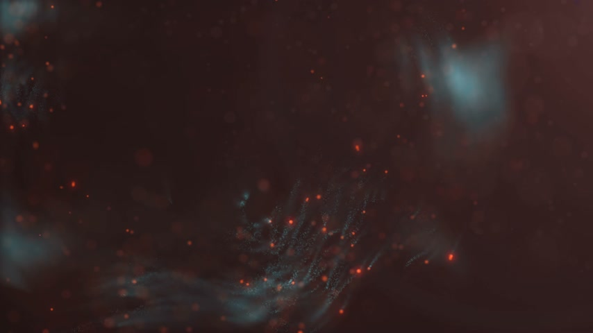 minimalizm : Motion graphics background. Abstract colored particles affected by turbulence. 3d rendering. 4K, Ultra HD resolution Stok Video